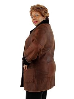 Woman's Cinnamon Shearling Lamb Stroller