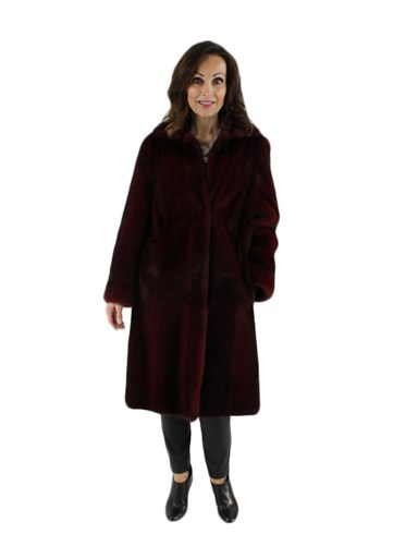 Mink Fur Coat Reversible to Suede Leather Finish