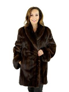 Woman's Mahogany Female Mink Fur Stroller
