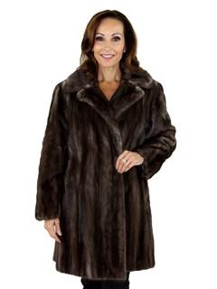 Woman's Blue Iris Female Mink Fur Stroller
