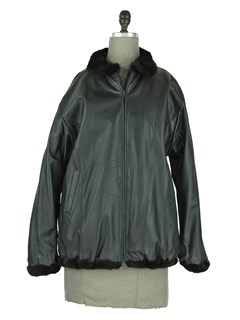 Man's Ranch Mink Fur jacket Reversible to Black Leather