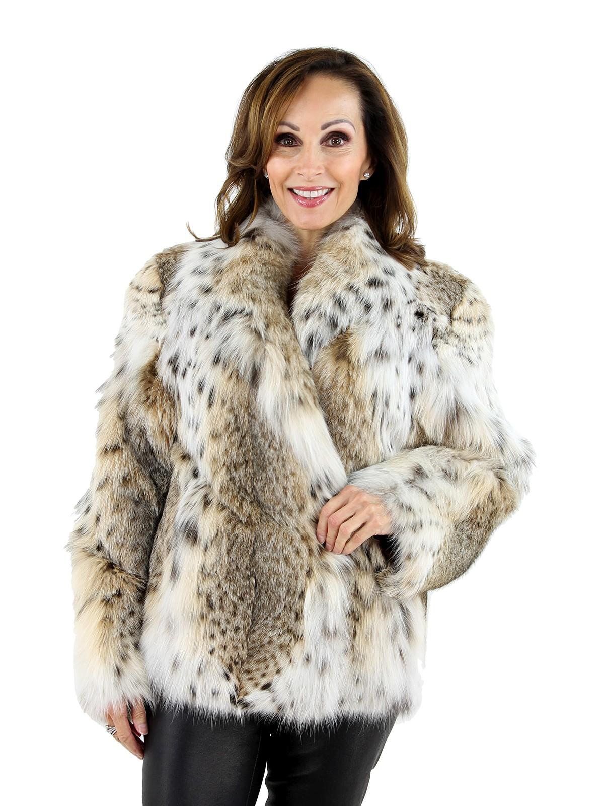 Woman's Cat Lynx Fur Jacket