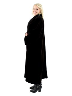 Woman's Dark Brown Sheared Mink Fur Coat