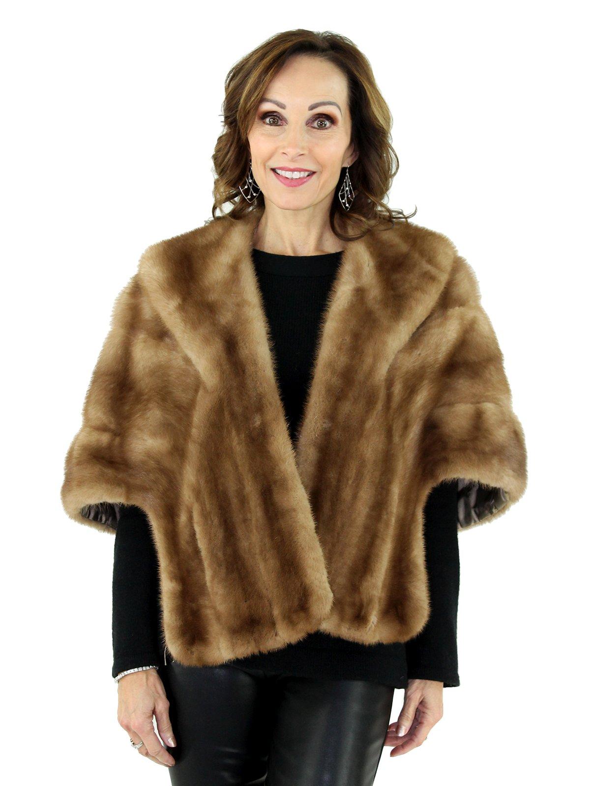 Women's Vintage Autumn Haze Mink Fur Stole