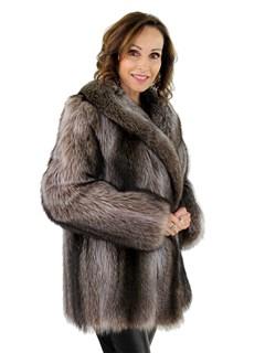 Woman's New Natural Raccoon Fur Jacket