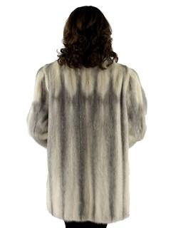 Woman's Female Cross Mink Fur Jacket