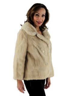 Woman's Tourmaline Female Mink Fur Jacket