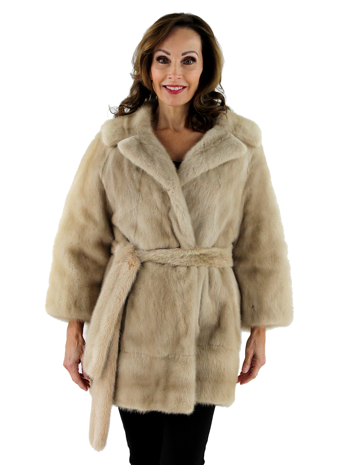 Woman's Azurene Mink Fur Jacket