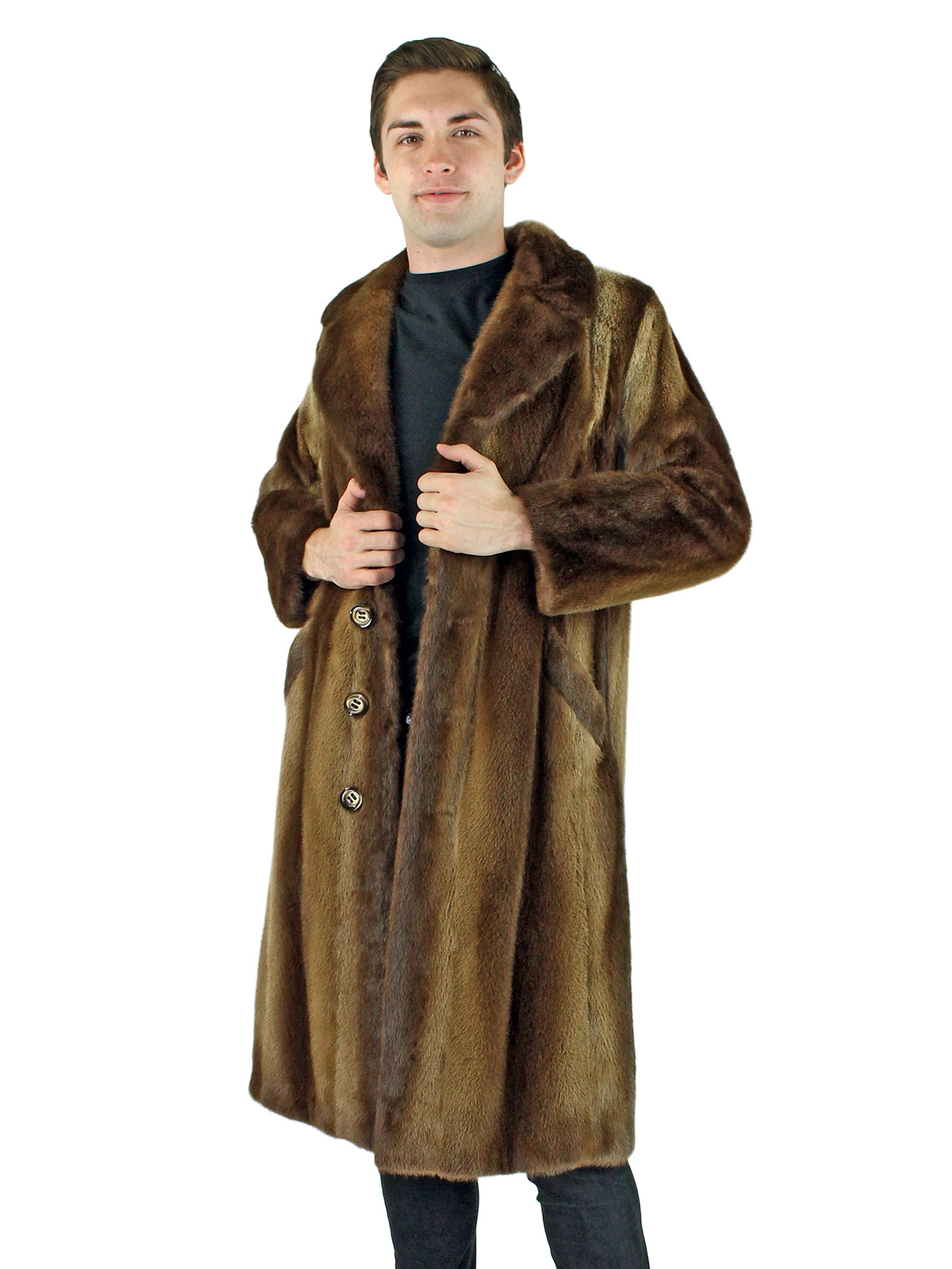 Man's Natural Otter Fur Coat