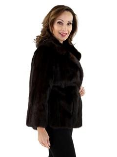 Woman's Mahogany Mink Fur Jacket