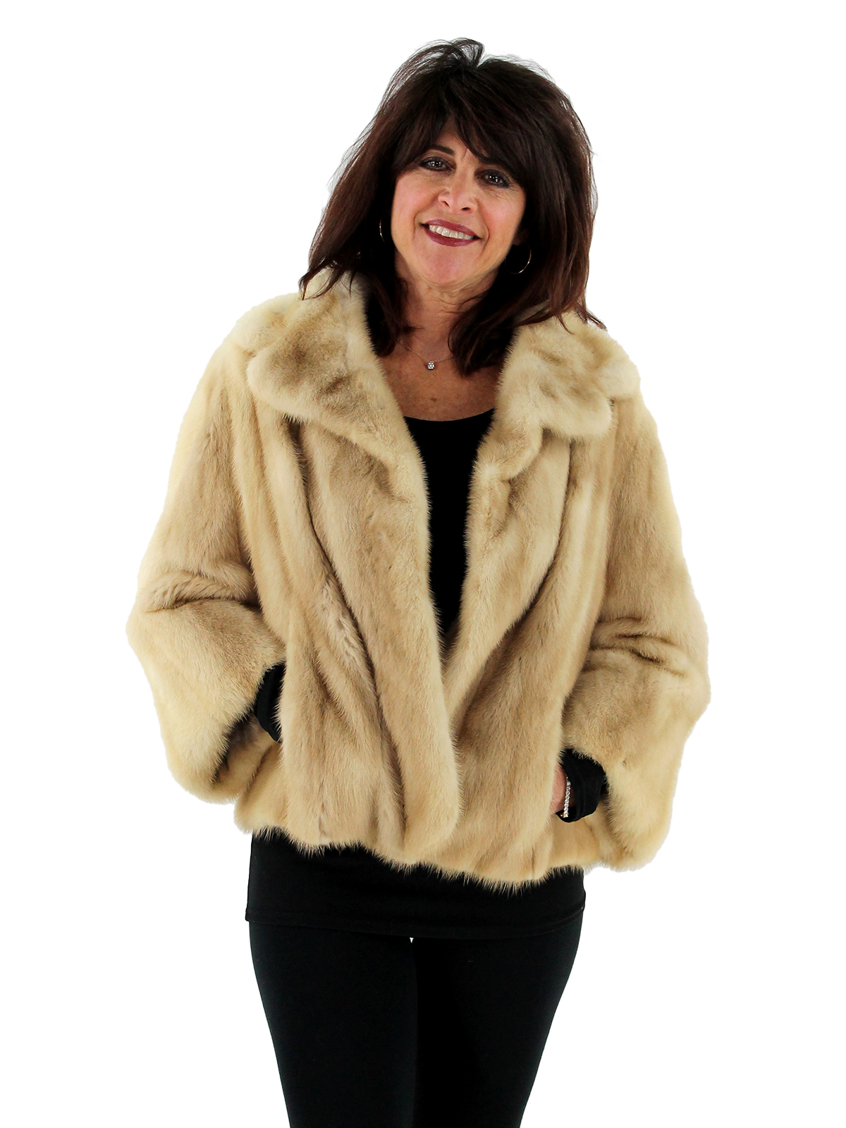 Woman's Tourmaline Female Mink Fur Jacket