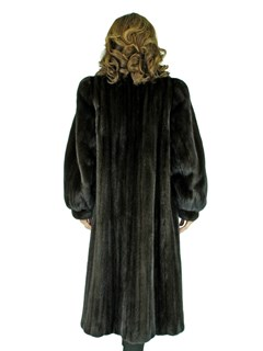 Woman's Black Diamond Ranch Female Mink Fur Coat
