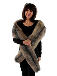 Woman's Crystal Fox Fur Fling
