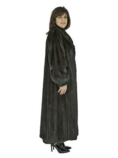 Woman's Very Dark Mahogany Female Mink Fur Coat