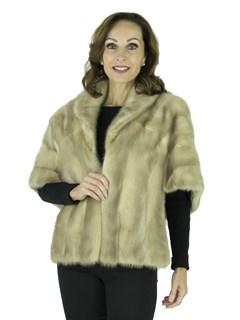 Woman's Vintage Cerulean Mink Fur Stole