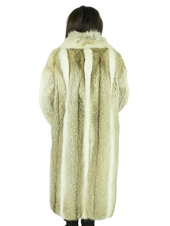 Woman's Coyote and Shadow Fox Fur Coat