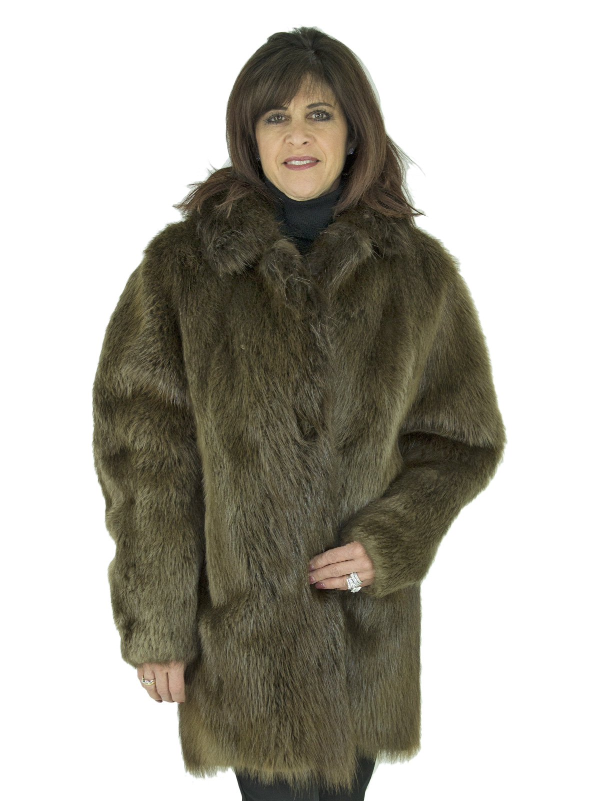 Woman's Medium Tone Beaver Fur Stroller