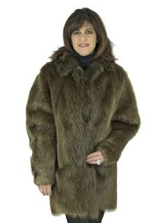 Woman's Medium Tone Beaver Fur Stroller