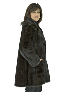 Woman's Dark Mahogany Female Mink Jacket