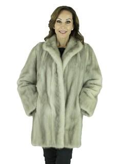 Woman's Cerulean Female Mink Fur Stroller