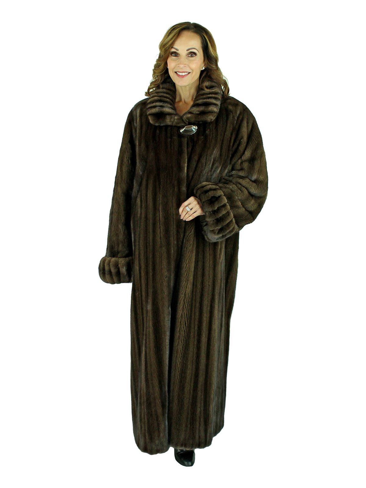 Scaasis Woman's Demi Buff Female Mink Fur Coat