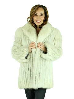Woman's Blue Fox Fur Jacket
