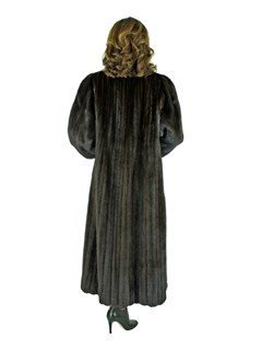 Woman's Dark Mahogany Female Mink Fur Coat