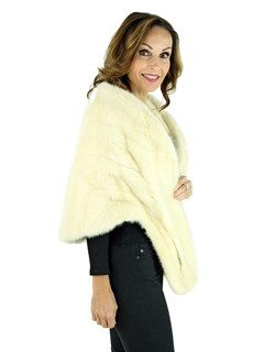 Woman's Cream Colored Mink Fur Stole