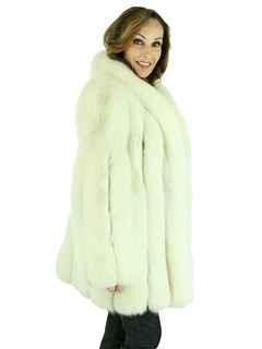 Woman's Shadow Fox Fur Jacket