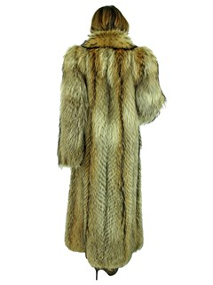 Woman's Natural Finn Raccoon Fur Coat
