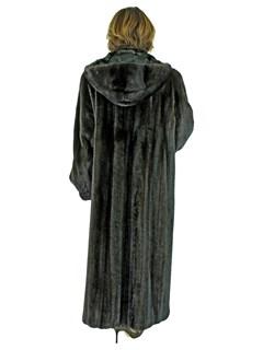 Woman's Plus Size Ranch Female Mink Fur Coat with Detachable Hood