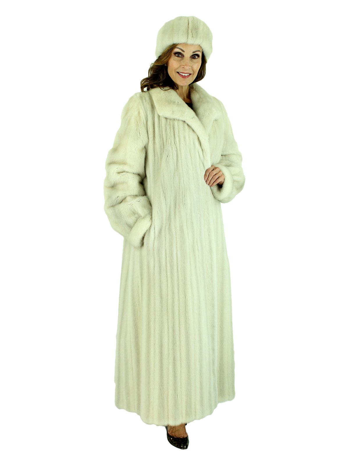 Woman's Azurene Female Mink Fur Coat
