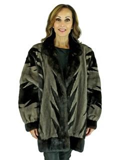 Woman's Ranch and Blue Iris Mink Fur Stroller