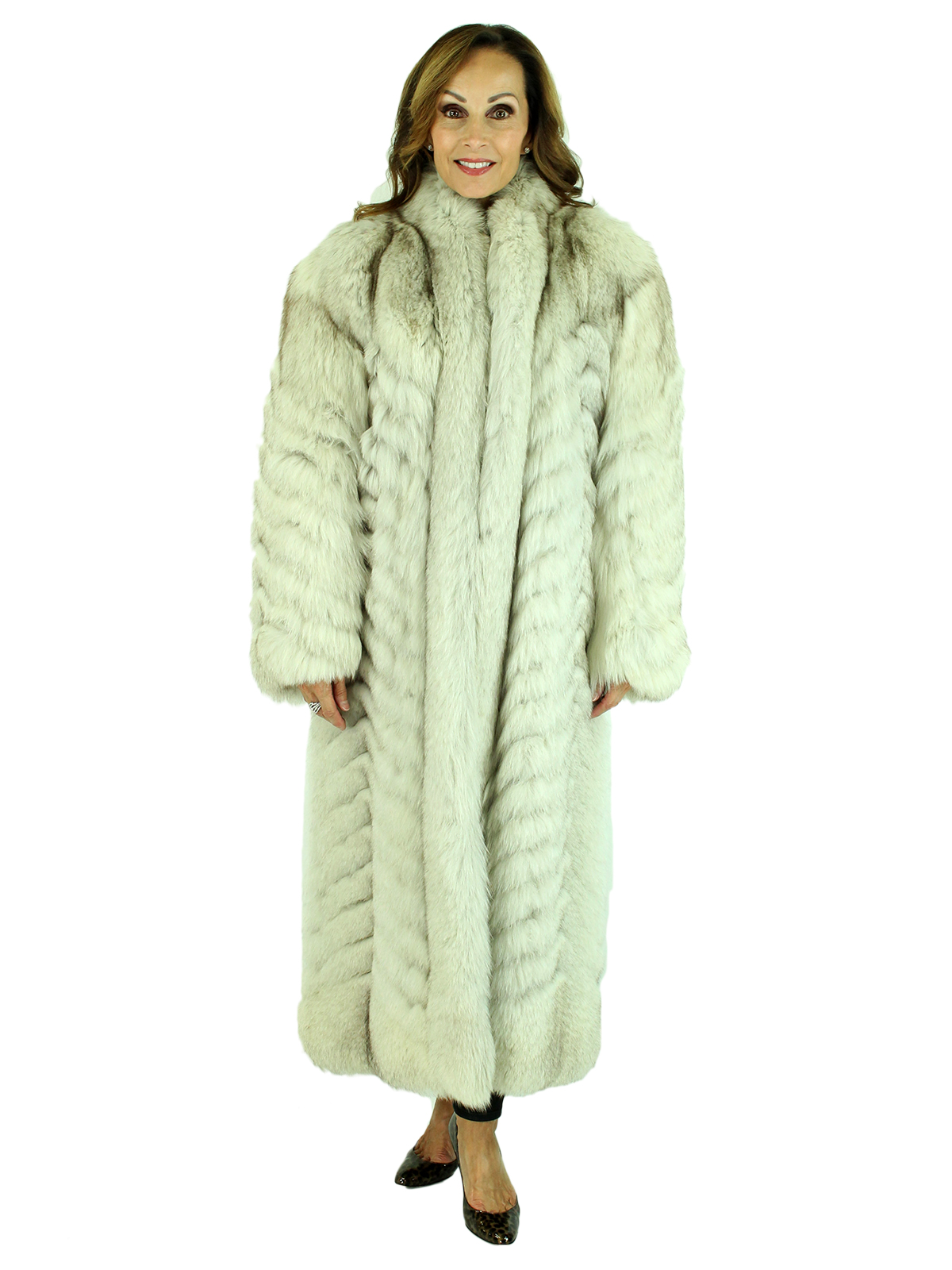 Woman's Natural Blue Fox Fur Coat
