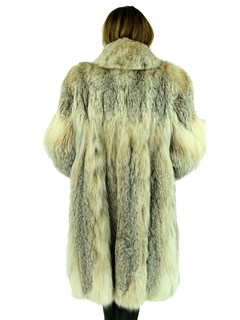 Woman's Natural Canadian Lynx Fur 7/8 Coat