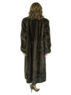 Woman's Mahogany Mink Fur Coat