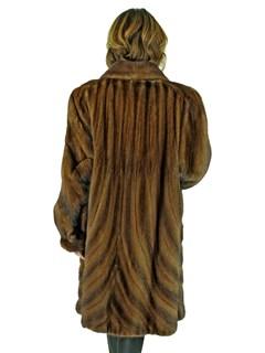 Woman's Mahogany Female Mink Fur Directional Stroller