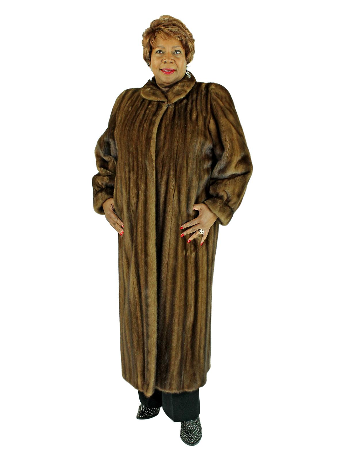 Woman's Female Demi Buff Mink Fur Coat