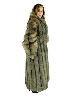 Woman's Karl Lagerfeld Designed Crystal Fox Fur Coat