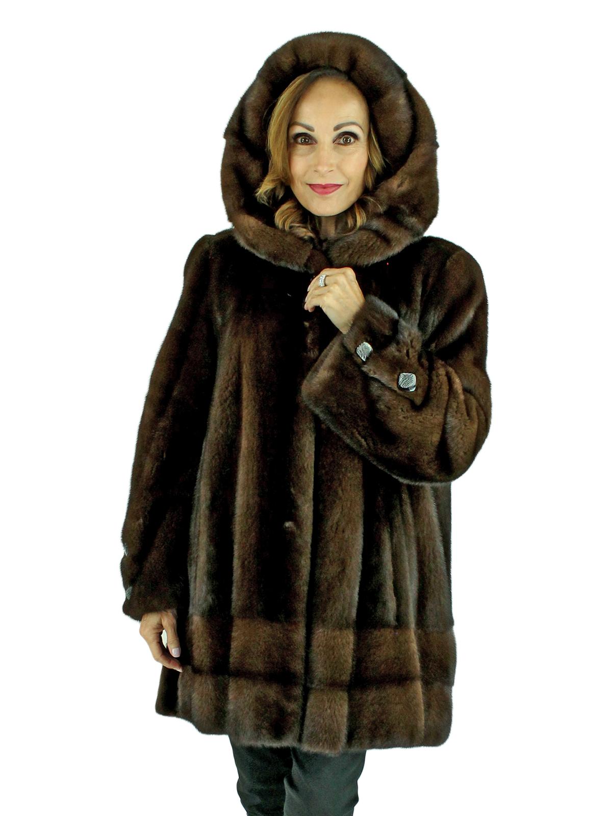 Woman's Demi Buff Mink Fur Parka