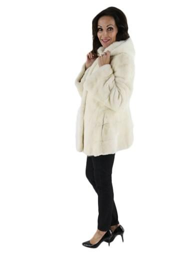 Mink Fur Parka Female Skins