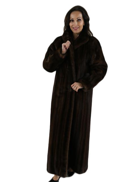 Mahogany Female Skins Mink Coat