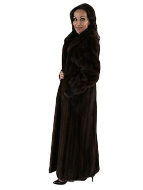 Female Skins Mink Fur Coat