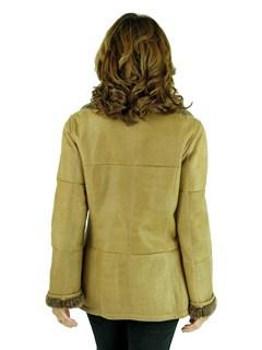 Christ Woman's Camel Shearling Lamb Jacket