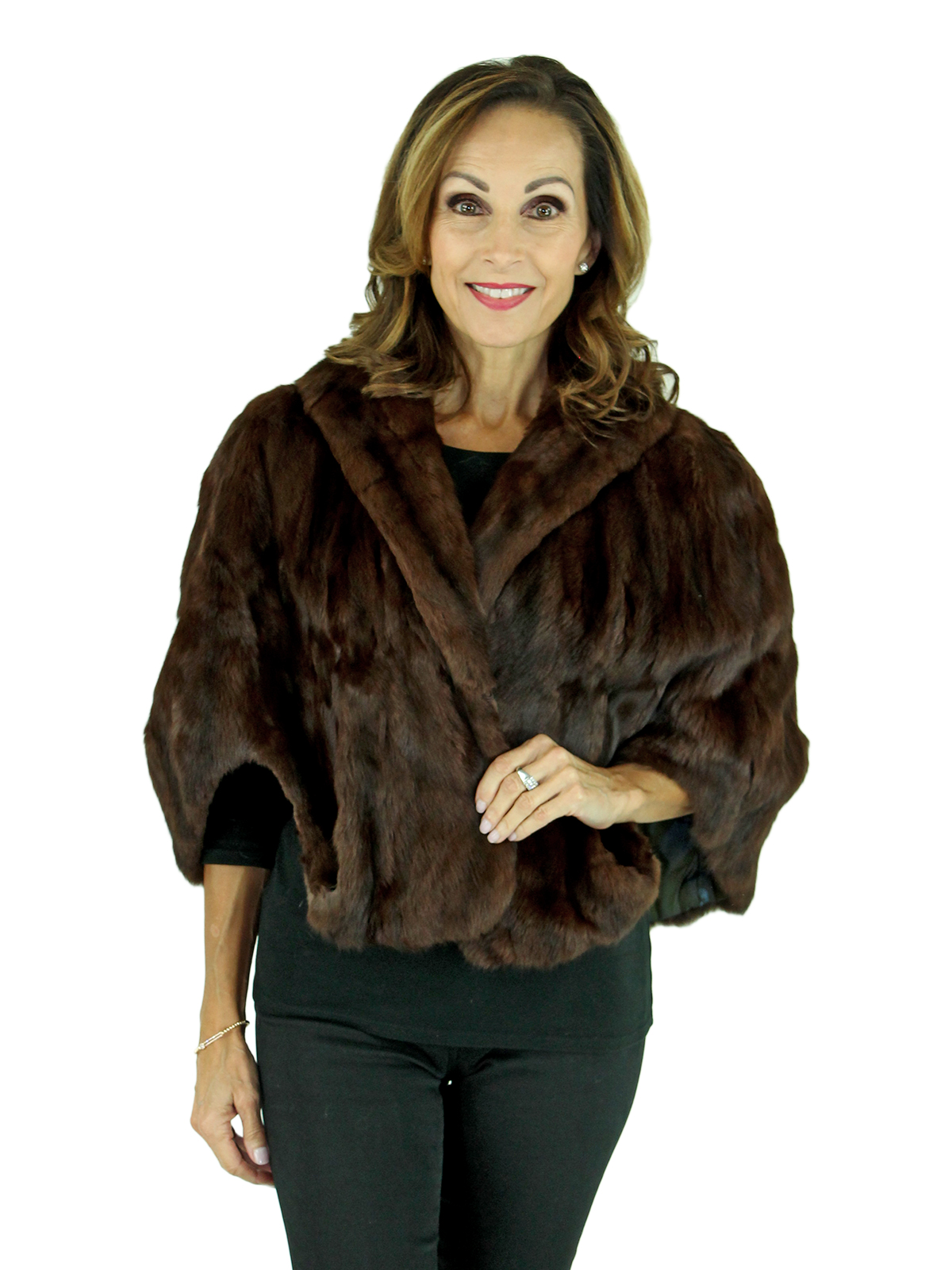 Woman's Brown Squirrel Fur Stole