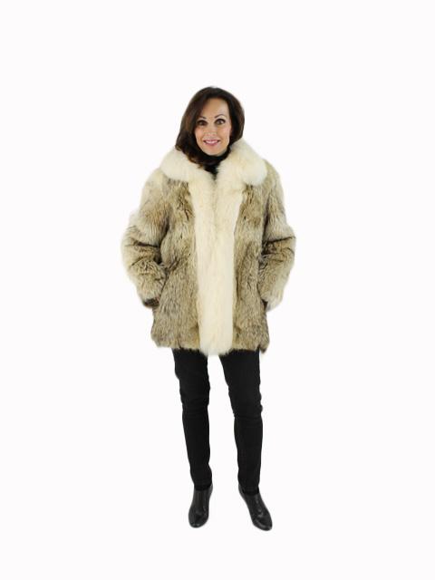 Coyote Fur Jacket with Shadow Fox