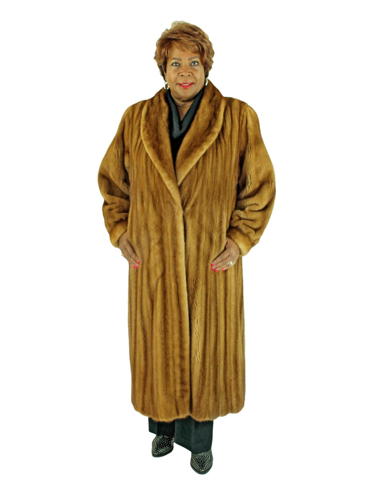 Woman's Whiskey Female Mink Fur Coat