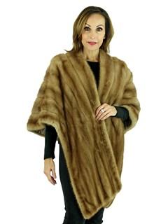 Woman's Pastel Female Mink Fur Stole