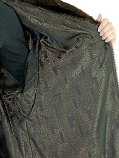 Woman's Mahogany Female Mink Fur Jacket