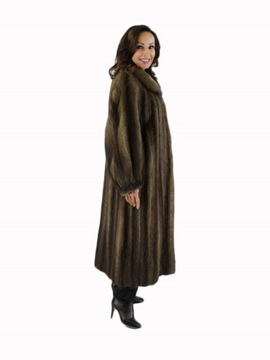 Natural Muskrat Fur Coat